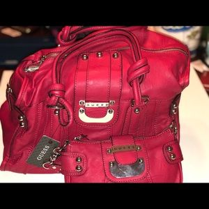 New Guess Handbag with Matching cosmetic bag